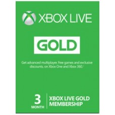 Xbox Live GOLD Subscription Card XBOX LIVE GLOBAL 3 Months